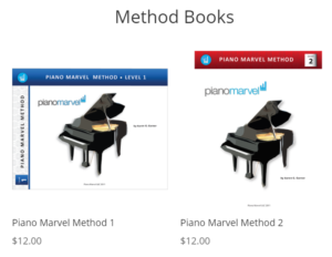 Piano Marvel books